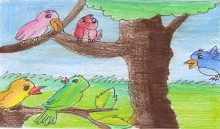 นิทานอีสปสอนใจฝูงนกกับแรดใจร้าย