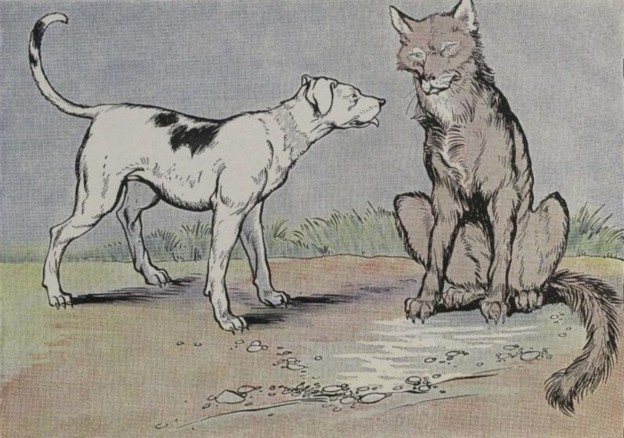 Aesop fables -The Dog and the Wolf