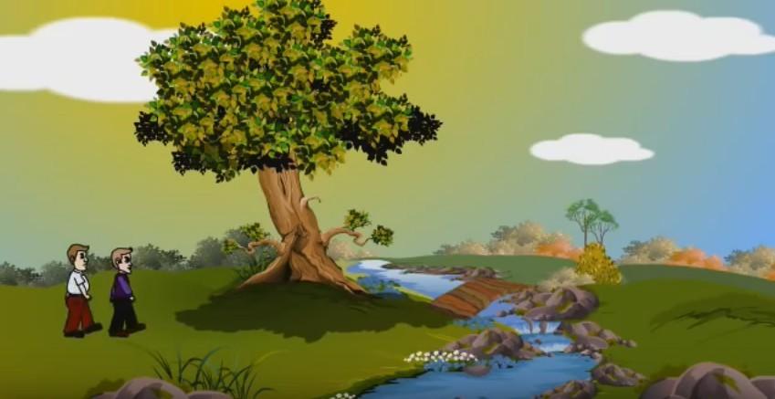 นิทานภาษาอังกฤษ นักเดินทางกับต้นไม้