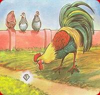 นิทานภาษาอังกฤษ The Cock and the Jewel